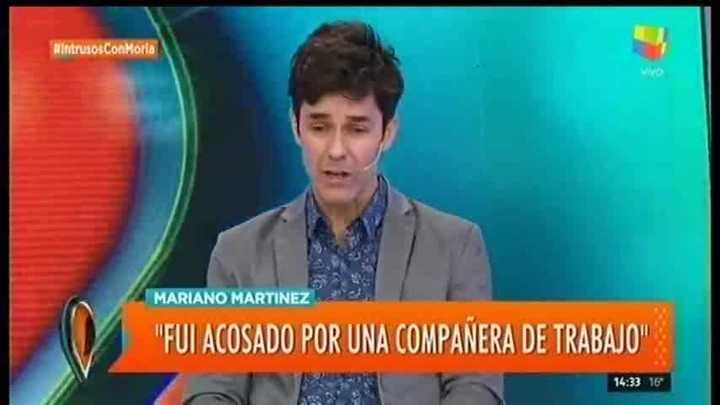 """Mariano Martínez contó que fue acosado por una actriz. En """"Intrusos"""""""