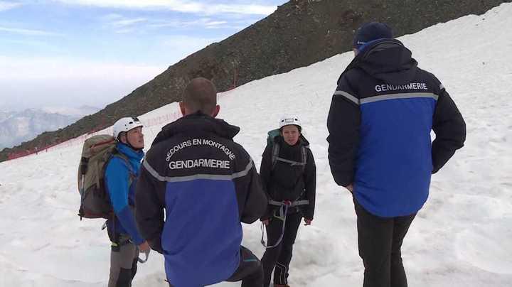 Los gendarmes franceses que velan por la seguridad en el Mont-Blanc