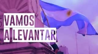 """El spot del """"banderazo"""", con música de Sumo."""
