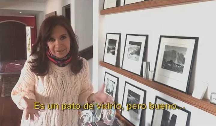 El video de Cristina Kirchner sobre los allanamientos a su casa en Calafate
