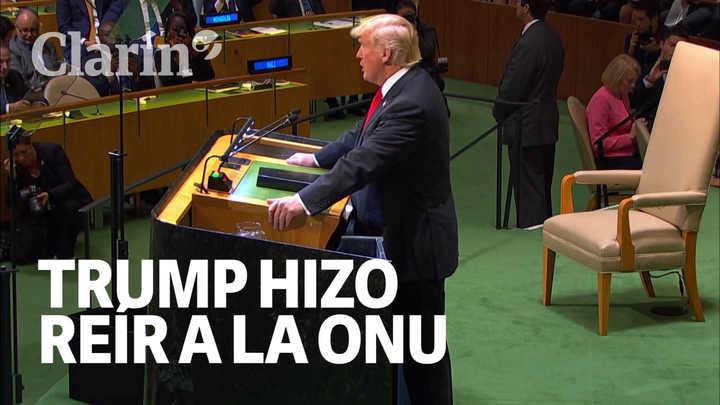 La frase de Trump que hizo reír a la ONU