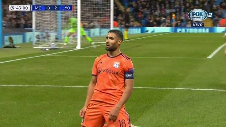 Lyon sorprende y le gana al City 2 a 0 con gol de Fekir
