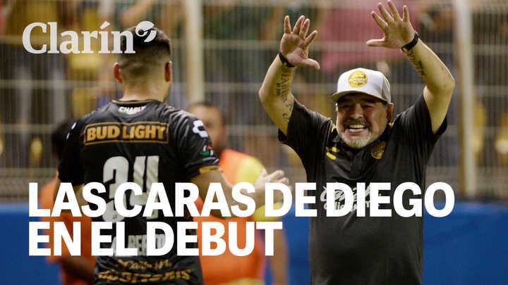 Las mil caras de Diego Maradona: así vivió el Diez su debut triunfal con Dorados