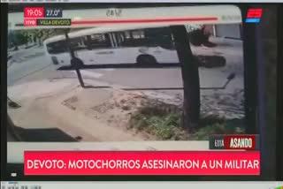 Motochorros mataron a un oficial del Ejército en Villa Devoto