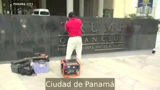 Quitan el nombre de Trump de un hotel de Panamá