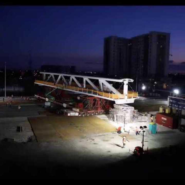 Así construyeron el puente en Miami. Timelaspe.