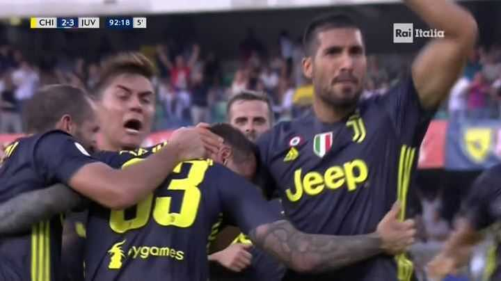 Juventus paso a ganarlo con el 3 a 2 de Bernardeschi