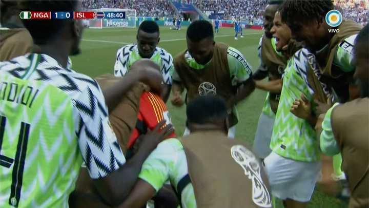 Nigeria 1 - Islandia 0. Gol de Nigeria - Mundial Rusia 2018