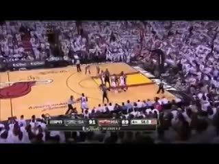 El final del tiempo extra del sexto juego de las finales de la NBA en 2013.