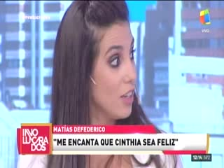 La rección de Cinthia Fernández al enterarse de que Matías Defederico firmó el divorcio.