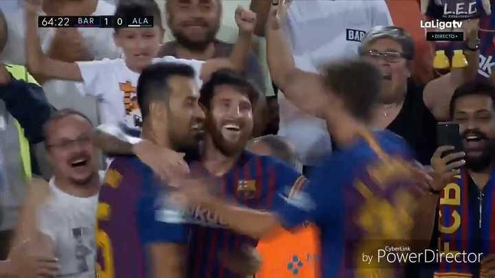 Messi convirtió el primero del Barcelona
