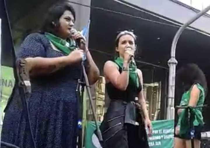 Srta. Bimbo y Malena Pichot, en Congreso por el aborto