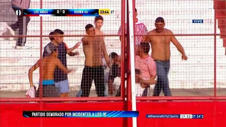Incidentes en el partido de Los Andes