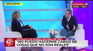 Ari Paluch rompió el silencio en Crónica TV. Parte 3