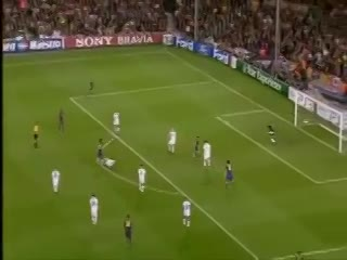 La parada de Julio César a Lionel Messi en la Champions League 2010.