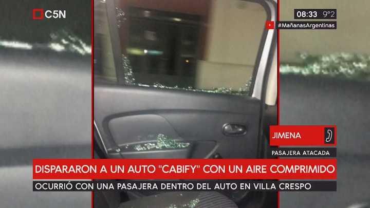 """Nuevo ataque """"caza Uber"""" a un Cabify: la pasajera cuenta cómo ocurrió (C5N)"""