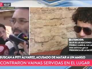"""Jorge, vecino de Lugano, dijo que escuchó los disparos. Buscan a """"Pity"""" Alvarez por un crimen."""