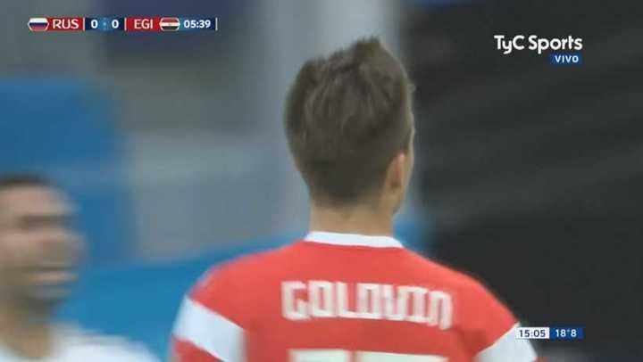Golovin estuvo cerca - Mundial Rusia 2018