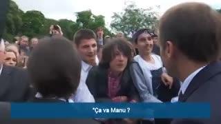 BFMTV: Macron reta a un adolescente