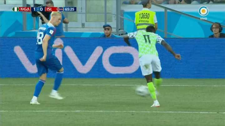 Nigeria 1 - Islandia 0. Casi el segundo de Nigeria - Mundial Rusia 2018