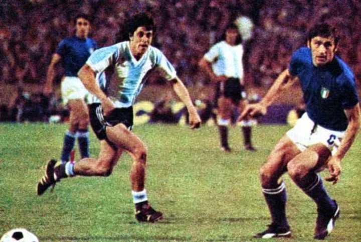 Argentina contra Italia en el Mundial '74