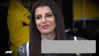 Aseel Al-Hamad a bordo de un Fórmula 1