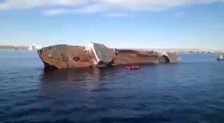 El hundimiento del barco pesquero Urbarain.