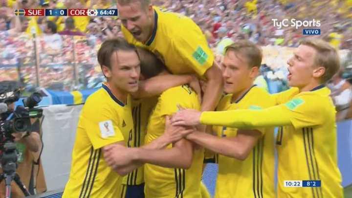 Suecia 1 - Corea del Sur 0