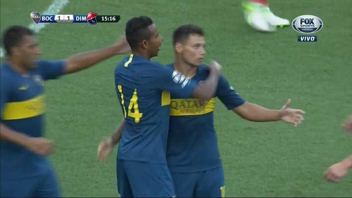 Boca 1 - Independiente de Medellín 1. Gol de Zárate para empatar - Amistoso 2018