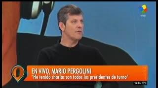 "Mario Pergolini habló de Marcelo Tinelli en ""Intrusos"" (América)."