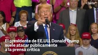 El presidente de EE.UU. Donald Trump suele atacar públicamente a la prensa crítica
