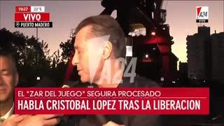 """""""Una cosa es tener deudas y otra es evadir"""", sostuvo Cristóbal López"""