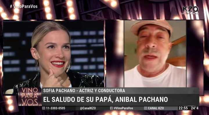 Reapareció Aníbanl Pachano y le mandó un mensaje a su hija