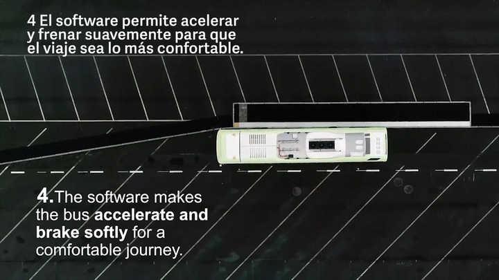 Prueba de Volvo Buses de su colectivo autónomo, en el marco de la Volvo Ocean Race