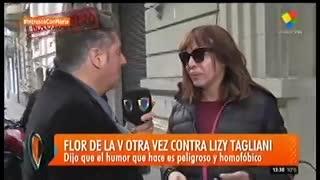 "Lizy Tagliani le contestó a Flor de la V. En ""Intrusos"" (América)."