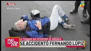 Fernando Lúpiz habló tras haber sufrido un tremendo accidente de tránsito