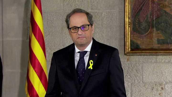 Jura del nuevo presidente de Cataluña, Quim Torra