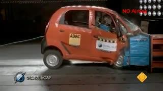 Pruebas de choque del Tata Nano