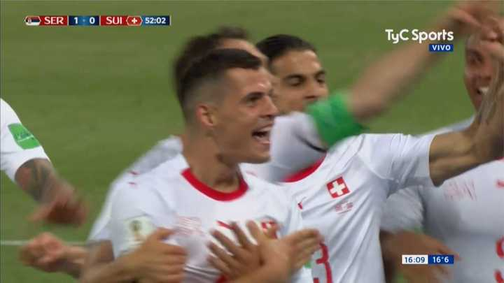 Serbia 1 - Suiza 1 - Primer gol de Suiza - Mundial Rusia 2018