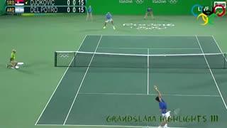 La victoria de Juan Martín Del Potro a Novak Djokovic en los Juegos olímpico de Río de Janeiro.