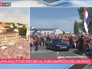Los festejos en Croacia por el subcampeonato mundial