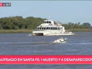 1 muerto y 4 desaparecidos en Santa Fe