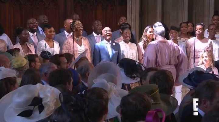 Boda Real: El coro interpretó Stand by me.