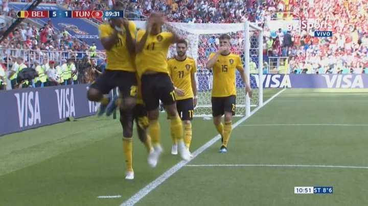 Bélgica 5 - Túnez 1. Gol de Batshuayi después de varios intentos - Mundial Rusia 2018