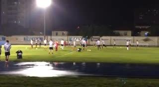 El entrenamiento de River antes del partido frente a Flamengo por Copa Libertadores.