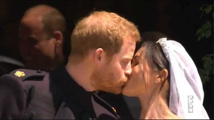 Boda Real: Así se besaban Harry y Meghan