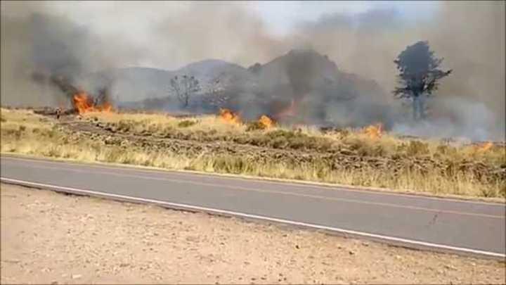 Incendios fuera de control en Sierra de la Ventana