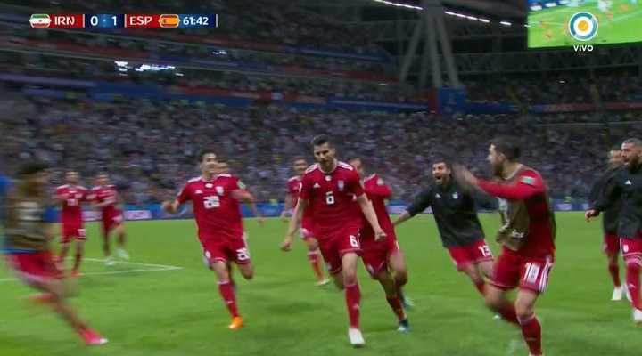 Gol anulado a Irán con el uso del VAR - Mundial Rusia 2018