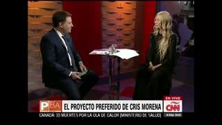 """""""Ojalá sea Presidenta"""", dijo Cris Morena sobre Vidal"""