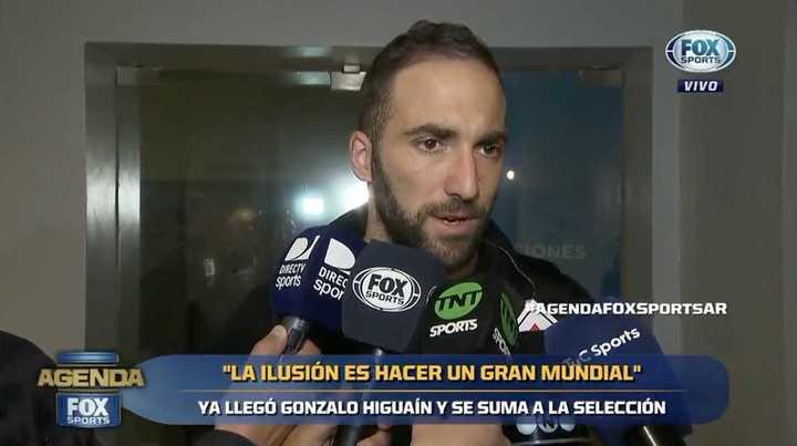 Higuaín habló tras su llegada a Ezeiza